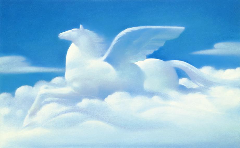 白い雲の流れ