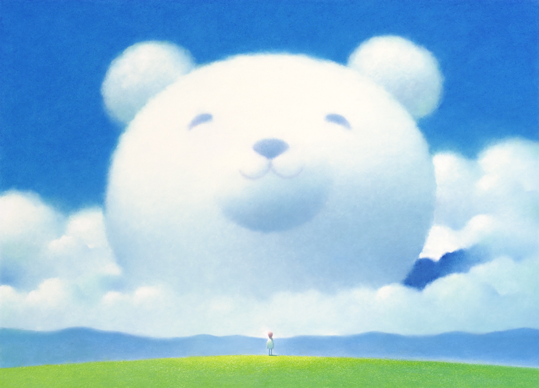 大きな白クマの友達